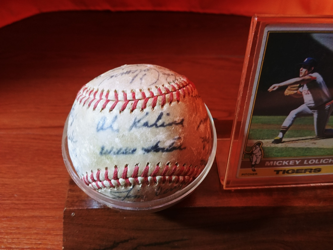Detroit-Tigers-Al-Kaline-multi-signed-ball-Kaline-Gates-Brown-Willie-Horton thumbnail 2
