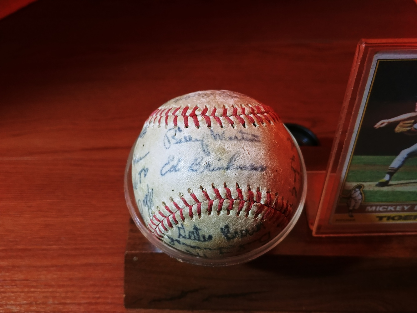 Detroit-Tigers-Al-Kaline-multi-signed-ball-Kaline-Gates-Brown-Willie-Horton thumbnail 4