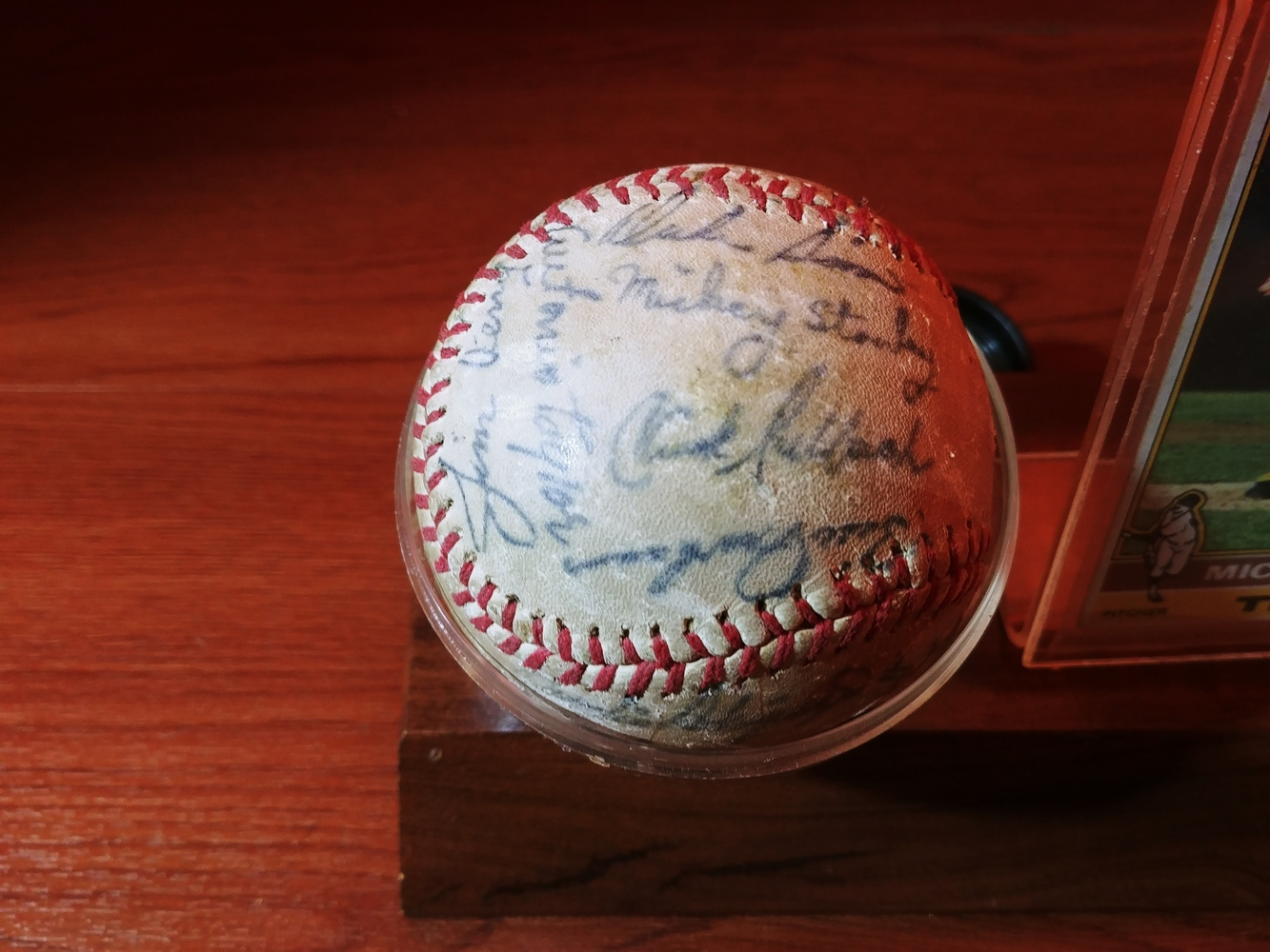 Detroit-Tigers-Al-Kaline-multi-signed-ball-Kaline-Gates-Brown-Willie-Horton thumbnail 6