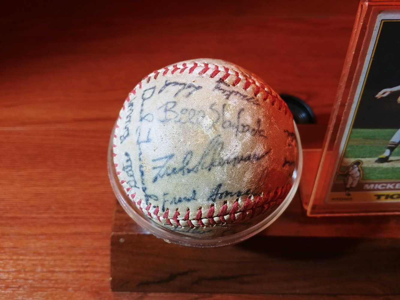 Detroit-Tigers-Al-Kaline-multi-signed-ball-Kaline-Gates-Brown-Willie-Horton thumbnail 7